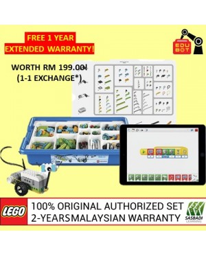 LEGO Education WeDo 2.0 Core Set 45300 (Malaysia Original Set) Robotik NRC FLL Sasbadi (2 Years Warranty)