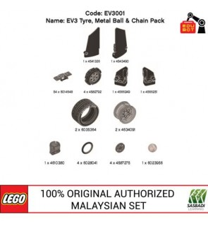 LEGO MINDSTORMS EV3 Tyre, Metal Ball Pack & Chain Pack EV3001