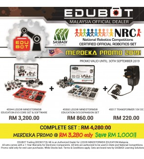 LEGO Mindstorms EV3 Core Set, Expansion Set & Charger 45544 45560 45517 (Malaysia Original Set) Robotik