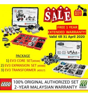 LEGO Mindstorms EV3 Core Set, Expansion Set & Charger 45544 45560 45517 (Malaysia Original Set) Robotik NRC FLL Sasbadi
