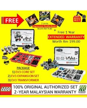 LEGO Mindstorms EV3 Core Set, Expansion Set & Charger 45544 45560 45517 (Malaysia Original Set) Robotik NRC FLL Sasbadi (2 Years Warranty)