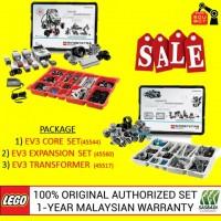 LEGO Mindstorms EV3 Core Set, Expansion Set & Charger 45544 45560 45517 (Malaysia Original Set) Robotik NRC FLL Sasbadi