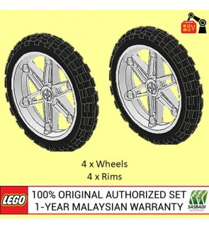 LEGO Motorcycle Wheel Bicycle Wheel NXT EV3 2903c01 (2903 / 2902) (4 Sets)