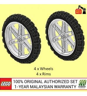 LEGO Motorcycle Wheel Bicycle Wheel NXT EV3 2903c01 (2903 / 2902) (4 Sets)