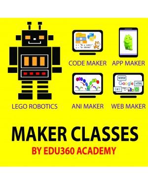 Robotics Class / Scratch / Python / Animation / Maker @ EDU360 Academy - 1 year (36 Classes)